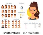 vector cartoon style woman... | Shutterstock .eps vector #1147524881