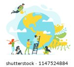 vector flat style concept for... | Shutterstock .eps vector #1147524884