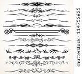 vector design elements.... | Shutterstock .eps vector #114753625