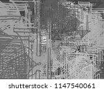 contemporary art. hand made art.... | Shutterstock . vector #1147540061
