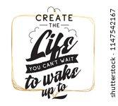 inspirational quote  motivation.... | Shutterstock .eps vector #1147542167