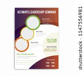 conference flyer design... | Shutterstock .eps vector #1147556981