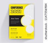 conference flyer design... | Shutterstock .eps vector #1147556984