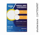 conference flyer design... | Shutterstock .eps vector #1147556987