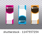 roll up banner stand template... | Shutterstock .eps vector #1147557254