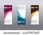 roll up banner stand template... | Shutterstock .eps vector #1147557347