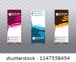 roll up banner stand template... | Shutterstock .eps vector #1147558454