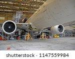 aircraft  airplane  lift up... | Shutterstock . vector #1147559984