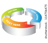 3d circular arrow diagram    Shutterstock .eps vector #114756475