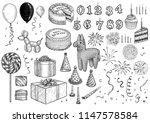 event  birthday  celebration ... | Shutterstock .eps vector #1147578584