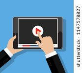 concept of streaming  study and ... | Shutterstock . vector #1147578827