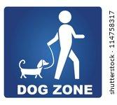Stock vector dog zone 114758317