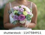 wedding bouquet   beautiful... | Shutterstock . vector #1147584911