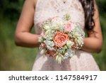 wedding bouquet   beautiful... | Shutterstock . vector #1147584917