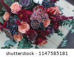 Bouquet Of Autumn Flowers In...