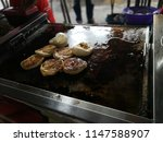a variety of roti canai with... | Shutterstock . vector #1147588907