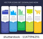 5 vector icons such as folder... | Shutterstock .eps vector #1147596251