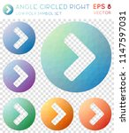 angle circled right geometric... | Shutterstock .eps vector #1147597031