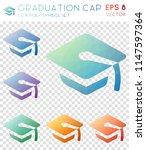 graduation cap geometric... | Shutterstock .eps vector #1147597364