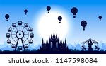 vector amusement park with... | Shutterstock .eps vector #1147598084