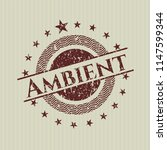 red ambient rubber stamp | Shutterstock .eps vector #1147599344