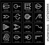 set of 16 icons such as right... | Shutterstock .eps vector #1147604444