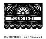 vector papel picado banner with ...   Shutterstock .eps vector #1147611221