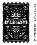 mexican happy birthday greeting ... | Shutterstock .eps vector #1147611761