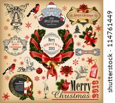 christmas collection of... | Shutterstock .eps vector #114761449