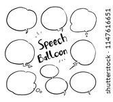 speech balloon doodle   Shutterstock .eps vector #1147616651