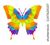 geometric butterfly with many... | Shutterstock .eps vector #1147620107