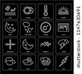set of 16 icons such as bolt ...