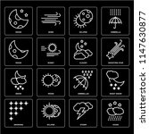 set of 16 icons such as stars ...