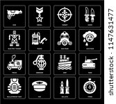 set of 16 icons such as timer ...