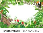 summer background with tropical ... | Shutterstock .eps vector #1147640417