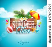 summer time holiday typographic ... | Shutterstock . vector #1147640804