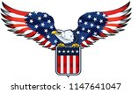 american eagle with usa flags | Shutterstock .eps vector #1147641047
