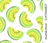 kiwi fruits seamless pattern.... | Shutterstock .eps vector #1147644827