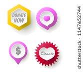 donate button collection. set...