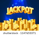 jackpot in the form of gold... | Shutterstock .eps vector #1147653371