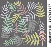 flowers  branches  set  leaves | Shutterstock .eps vector #1147656197