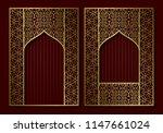 vintage frames in form of... | Shutterstock .eps vector #1147661024