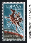 spain   circa 1966  stamp... | Shutterstock . vector #114766375