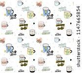 super cute seamless pattern in...   Shutterstock .eps vector #1147665854