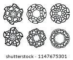 round celtic ornament...   Shutterstock .eps vector #1147675301