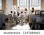 young male manager using... | Shutterstock . vector #1147684661