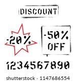 ''discount'' quotes. spray... | Shutterstock .eps vector #1147686554