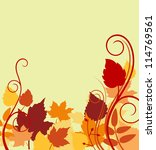 Autumnal background with colorful leaves for seasonal backdrop. Jpeg version also available in gallery - stock vector
