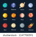 the planet of the solar system. ... | Shutterstock .eps vector #1147700591