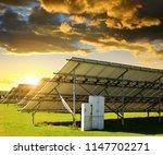 solar energy panels in the... | Shutterstock . vector #1147702271